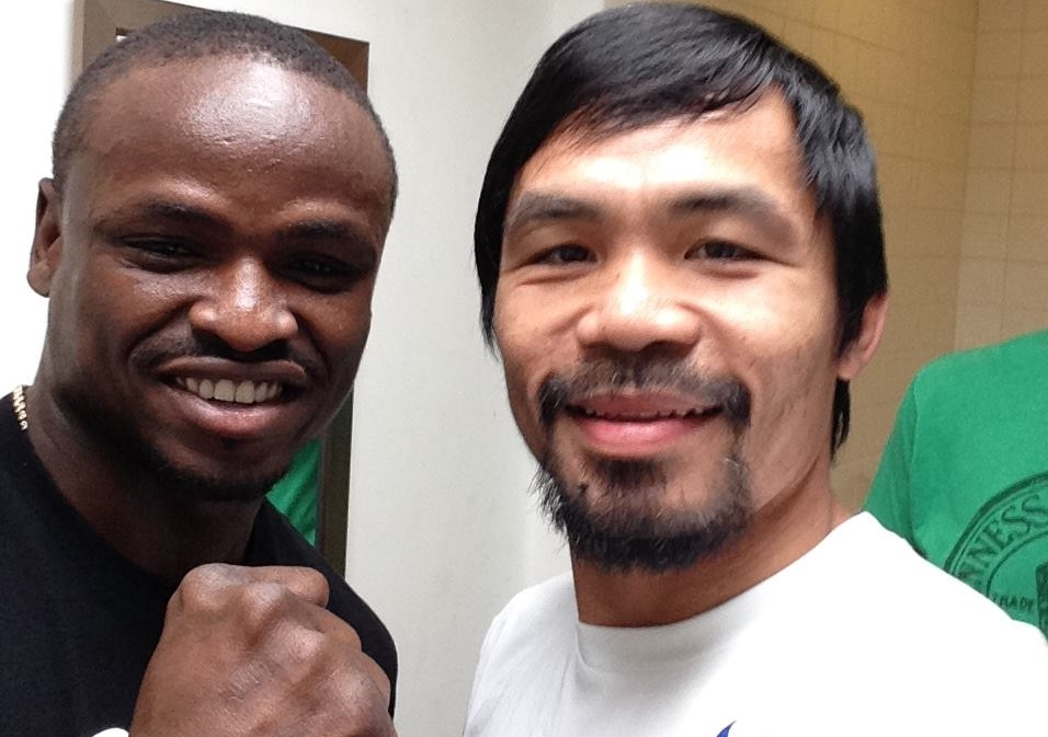 Dierry Jean et Manny Pacquiao