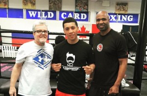 Joel Diaz Jr, Freddie Roach et Chris Byrd