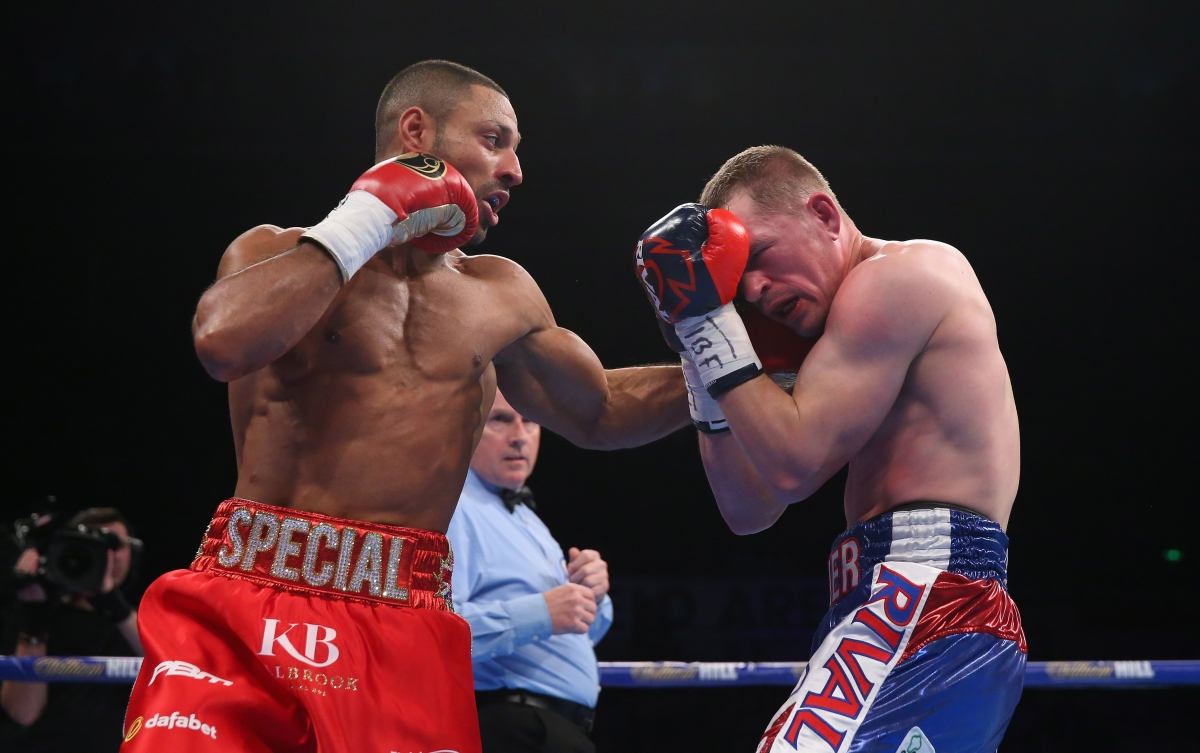 kell brook touche Kevin Bizier