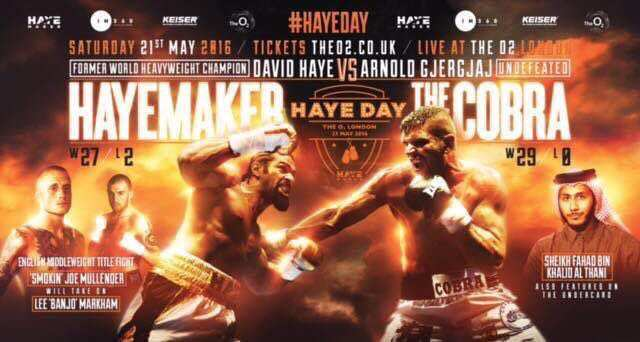 David Haye vs Arnold Gjergjaj