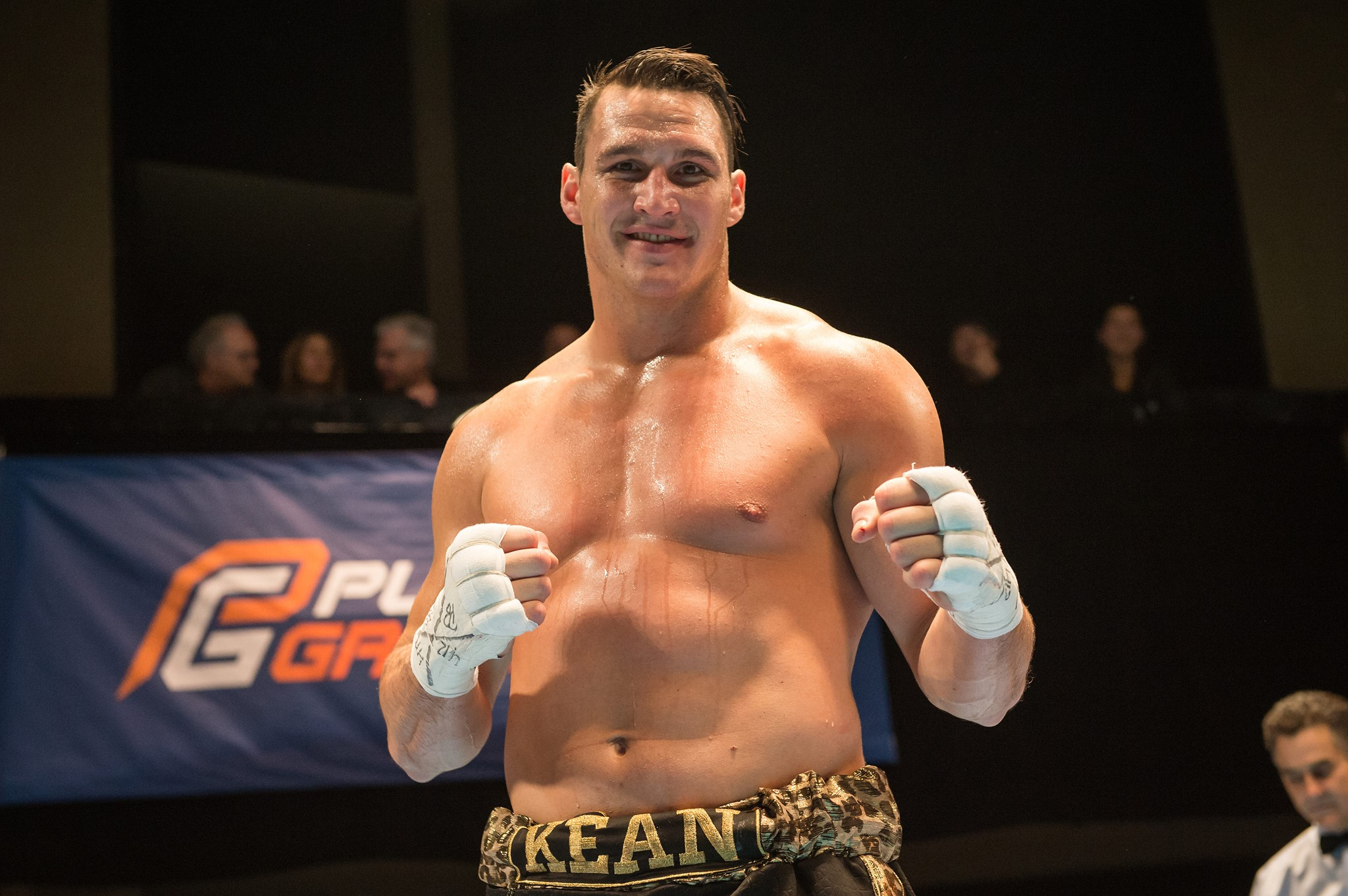 Simon Kean sur le ring