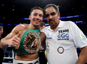 Team golovkin Abel Sanchez